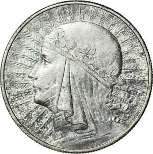 10 złotych 1933, Głowa, piękna