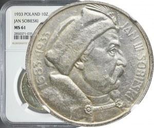 10 złotych 1933, Sobieski, mennicze