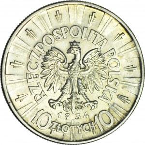 10 złotych 1934 orzeł URZĘDOWY, rzadki, piękny