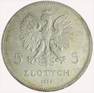 5 złotych 1928 Nike, Bruksela, bez znaku, mennicze