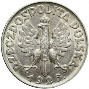 2 złote 1925, Żniwiarka, kropka po dacie (Londyn)