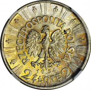 2 złote 1934, Piłsudski, mennicze
