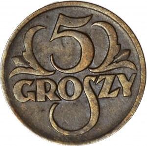 5 groszy 1930, piękne, rzadki rocznik
