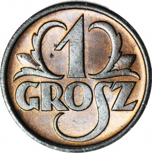 1 grosz 1937, menniczy