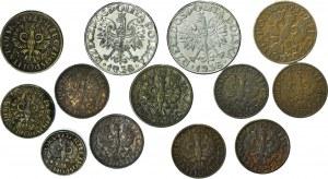 Zestaw 13 szt., monety II RP