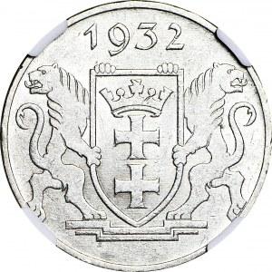 Wolne Miasto Gdańsk, 5 guldenów 1932, Żuraw