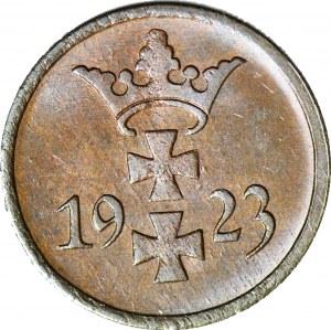 Wolne Miasto Gdańsk, 1 fenig 1923, menniczy