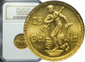 R-, Wolne Miasto Gdańsk, 25 guldenów 1930, Neptun, mennicze