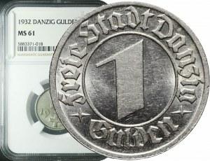 Wolne Miasto Gdańsk, 1 gulden 1932, menniczy
