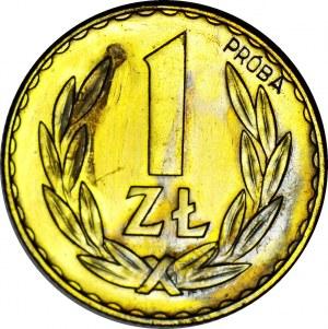 RRR-, 1 złoty 1949, PRÓBA, MOSIĄDZ, nakład 100szt., rzadkość, c.a.