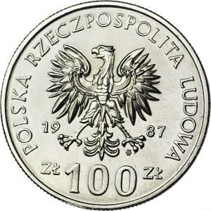 100 złotych 1987, PRÓBA, nikiel, Kazimierz Wielki