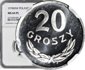 R-, 20 groszy 1978, PROOFLIKE