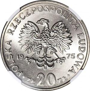 20 złotych 1975, Nowotko, bez znaku, menniczy