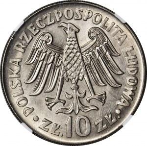 10 złotych 1964, Kazimierz Wielki, wypukły, mennicze