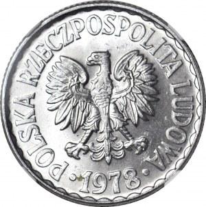 1 złoty 1978, bez znaku, mennicze