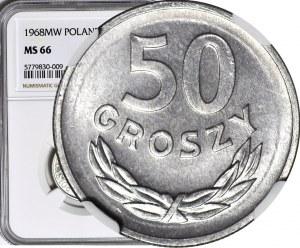50 groszy 1968, rzadki rocznik, mennicze