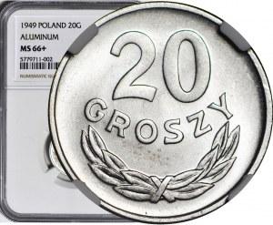 20 groszy 1949, aluminium, mennicze
