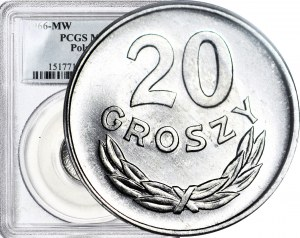 20 groszy 1966, mennicze