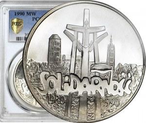 100.000 złotych 1990, Solidarność, typ A, mennicze