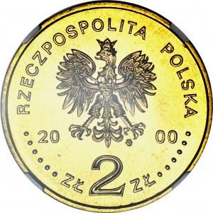 RR-, 2 Złote 2000, Solidarność, DESTRUKT, ODWROTKA 180 stopni