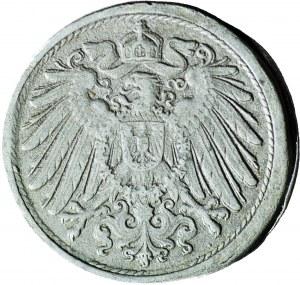 RR-, Niemcy, 10 fenigów 1917-1922 J, DESTRUKT -