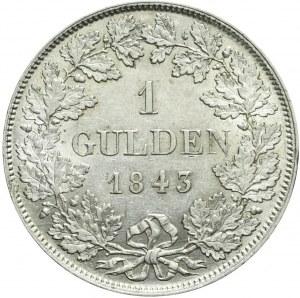 Niemcy, Wirtembergia, Wilhelm I, Gulden 1843, ładny