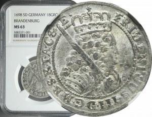 Niemcy, Brandenburgia-Prusy, Fryderyk III, Ort 1698, Królewiec, piękny
