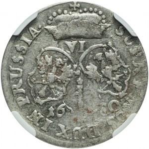 Niemcy, Brandenburgia-Prusy, Fryderyk Wilhelm, Szóstak 1680, Królewiec