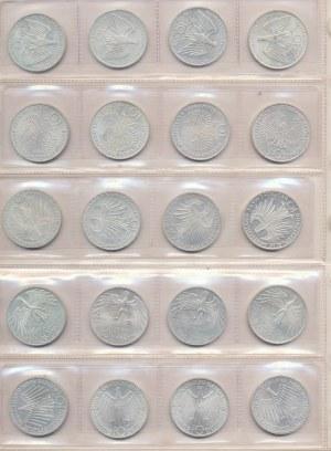 Niemcy, DDR, zestaw 10 marek 1972, Olimpiada w Monachium- 20 sztuk