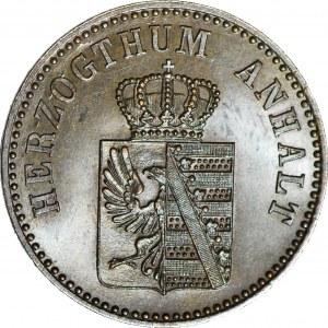 Anhalt-Bernburg, Alexander Carl, 3 Fenigi 1861 A