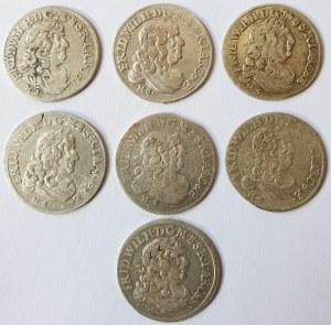 Niemcy, Brandenburgia-Prusy, Fryderyk III, Zestaw siedmiu szóstaków, Królewiec