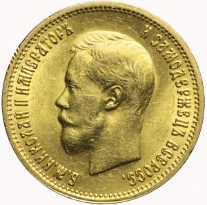 Rosja, Mikołaj II, 10 rubli 1899 АГ, Petersburg, piękne
