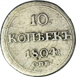 Rosja, Aleksander I, 10 kopiejek 1804