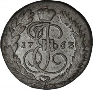 Rosja, Katarzyna II, 2 Kopiejki 1763 MM