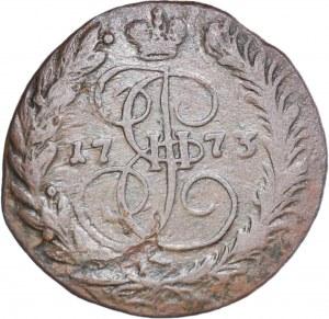 Rosja, Katarzyna II, 2 Kopiejki 1773 EM