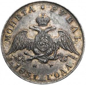 Rosja, Mikołaj I, rubel 1831 СПБ НГ, ładny