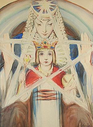 Kazimierz SICHULSKI (1879-1942), Scena symboliczna - Bogini Isztar z Gilgameszem