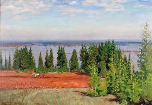 Stanisław ŻUKOWSKI (1873-1944), Wiosenny rozlew rzeki - Wiatka, 1920