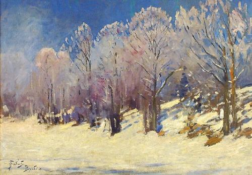 Julian FAŁAT (1853-1929), W zimowym słońcu