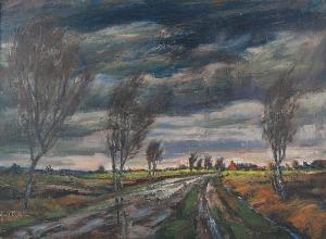 Erwin ELSTER (1887-1977), Pejzaż burzowy