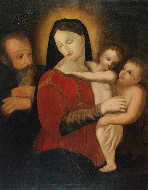 Malarz nieokreślony (XIX w.), Św. Rodzina ze św. Janem Chrzcicielem