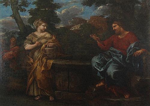 Malarz nieokreślony włoski (XVII/XVIII w.), Jezus i Samarytanka
