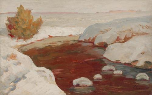 Zenobiusz PODUSZKO (1887-1963), Potok zimą
