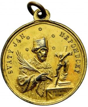 Czechy, Medalik Leon XIII 1888 - św. Jan Nepomucen