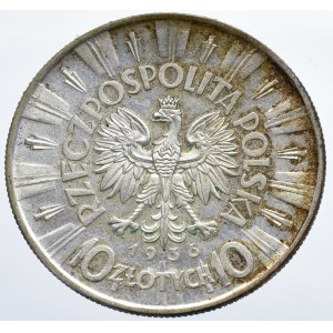 II Rzeczpospolita, 10 złotych 1936 Piłsudski