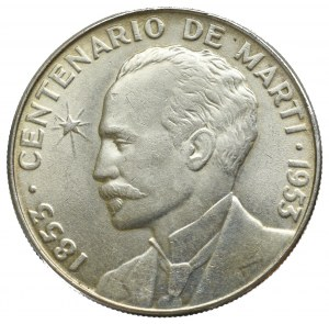 Kuba, 1 peso 1953 José Martí