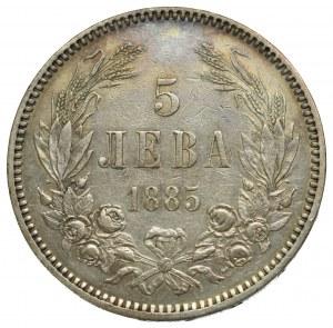 Bulgaria, 5 leva 1885