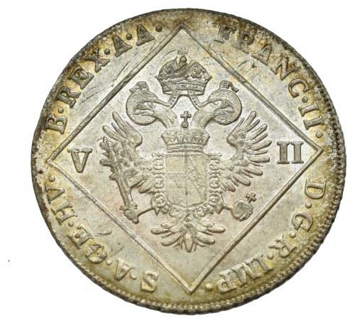 Austria, Franciszek II, 7 krajcarów 1802 - przebitka na 12 krajcarach