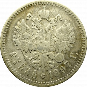 Rosja, Mikołaj II, Rubel 1897 **