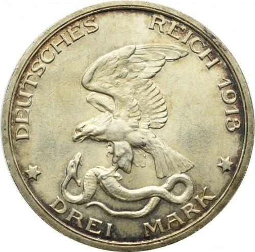 Niemcy, Prusy, 3 marki 1913